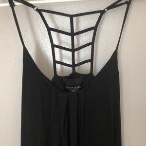 Cynthia Rowley Dresses - Cynthia Rowley Black racerback maxi Size S